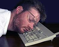 Sleeping on the keyboard