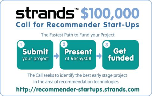 Call for recommender startups