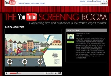 YouTube Screening Room