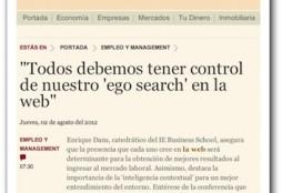 Todos debemos tener control de nuestro 'ego search' en la web - Gestión