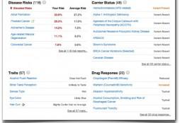 Sample report - 23andMe