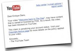 YouTube infringement