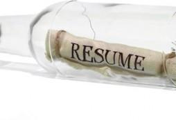 CV en una botella