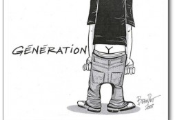 Generation Y (cartoon by Marc Beaudet, published at Journal de Québec on January 22, 2008)