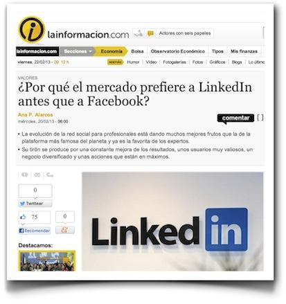 ¿Por qué el mercado prefiere a LinkedIn antes que a Facebook? - La Información