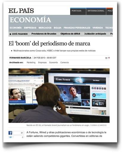 El 'boom' del periodismo de marca - El País