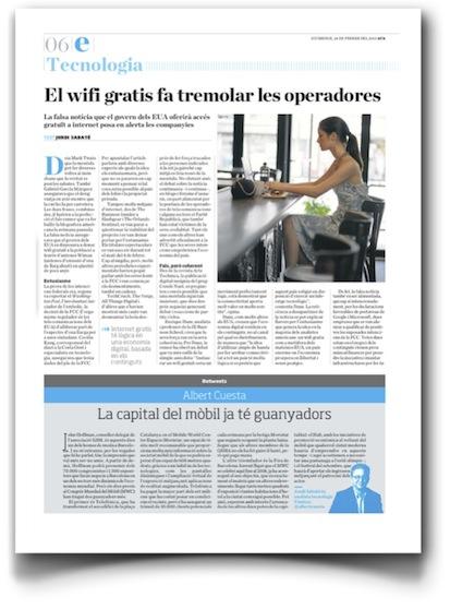 El wifi gratis fa tremolar les operadores - Ara (pdf, en catalán, haz clic para verlo a mayor tamaño)