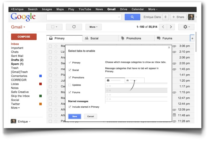 Gmail New Inbox