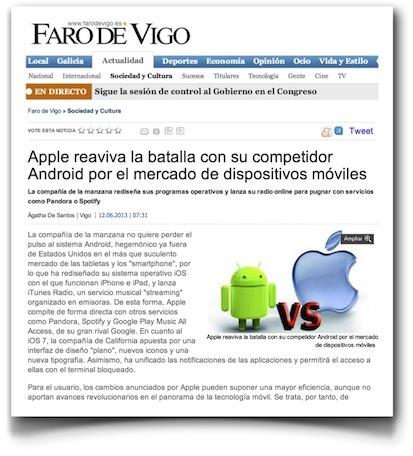 AppleWWDC2013 - Faro de Vigo