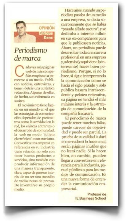 Periodismo de marca - Expansión (pdf, haz clic para leer con más comodidad)