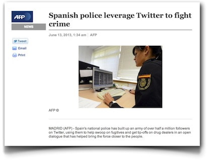 Spanish police leverage Twitter to fight crime - AFP