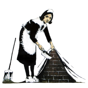 Sweep under the rug - Banksy