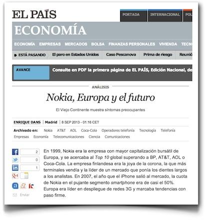 Nokia, Europa y el futuro - El País