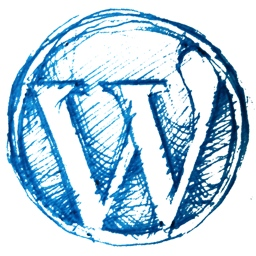 Wordpress logo sketched