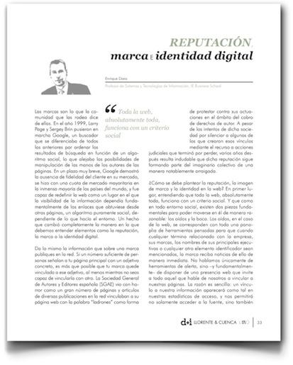 Reputación, marca e identidad digital - UNO (Llorente y Cuenca)