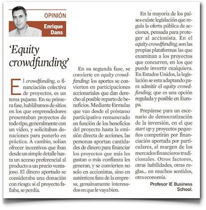 Equity crowdfunding - Expansión (pdf, haz clic para ampliar)