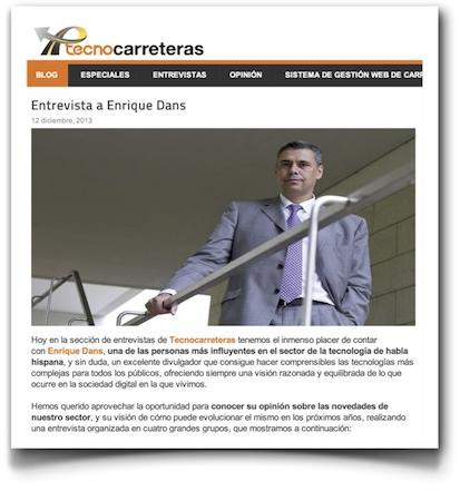 Entrevista a Enrique Dans - Tecnocarreteras