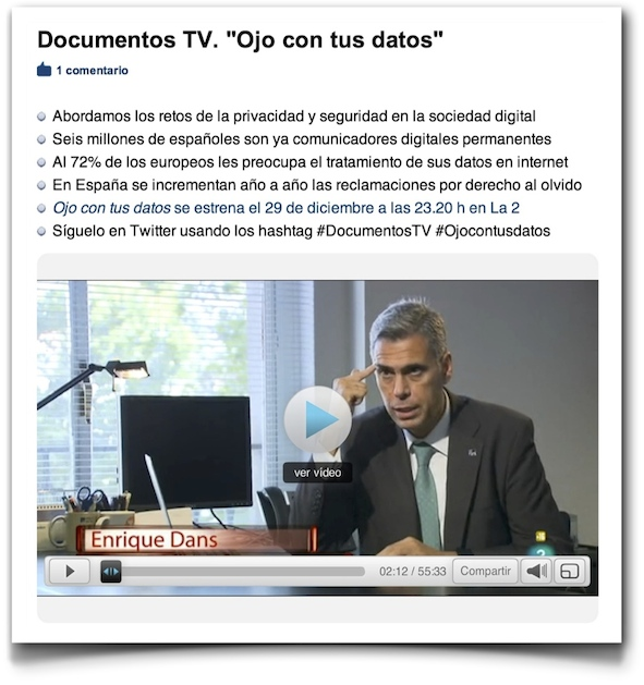 Ojo con tus datos - Documentos TV (RTVE)