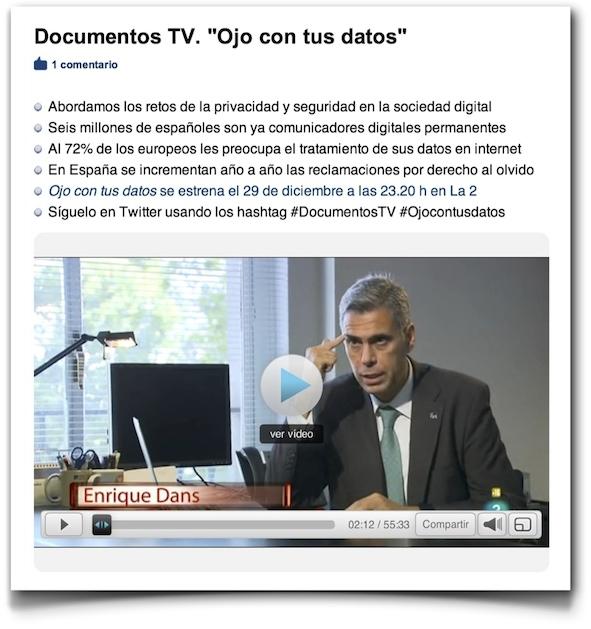 Ojo con tus datos - Documentos TV (RTVE)