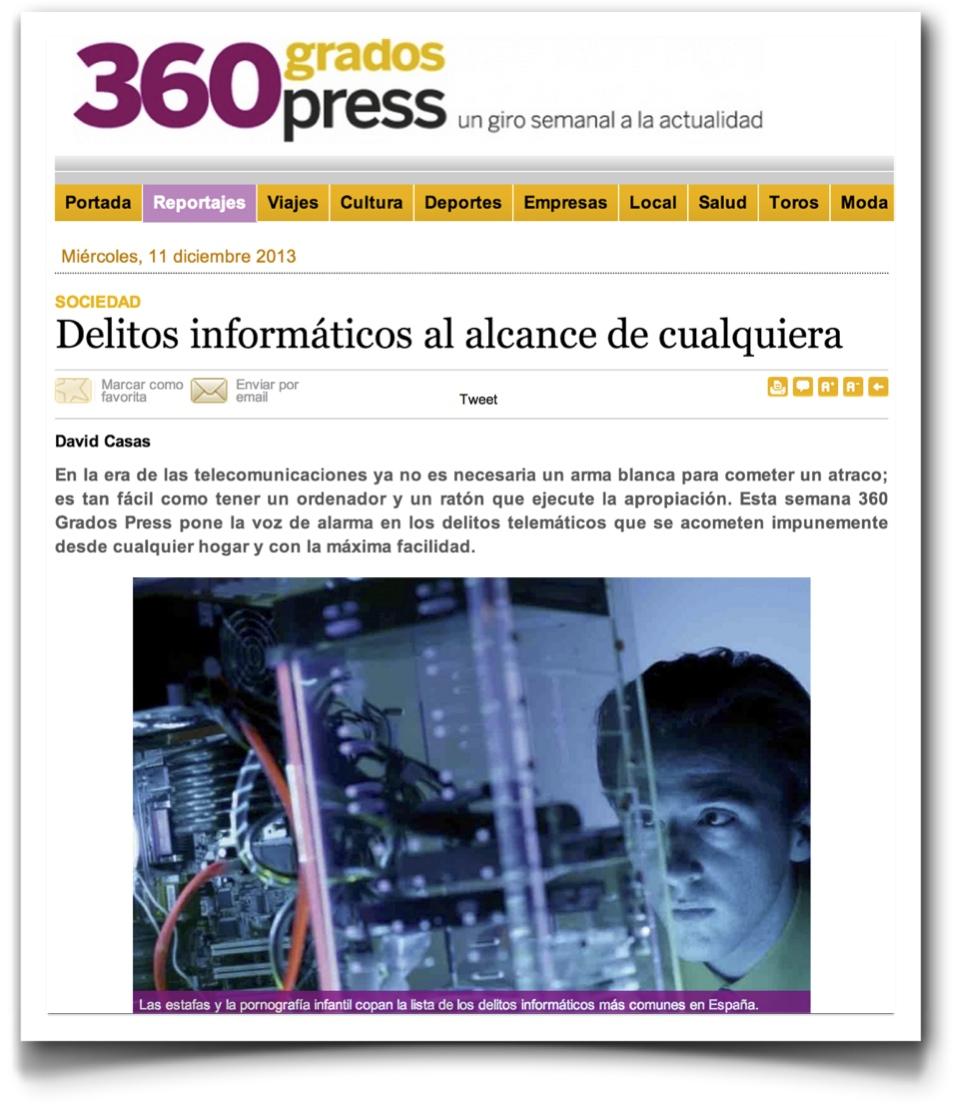 Delitos informáticos - 360º Press