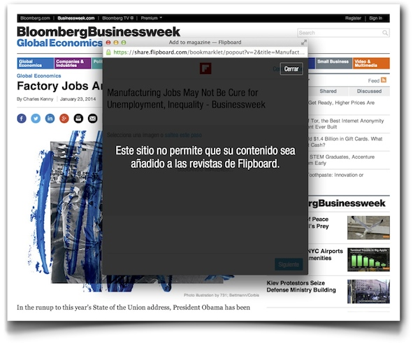 No Flipboard on Bloomberg