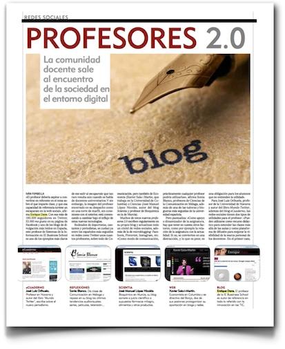 Profesores 2.0 - El Mundo (haz clic para ver el artículo completo en pdf)