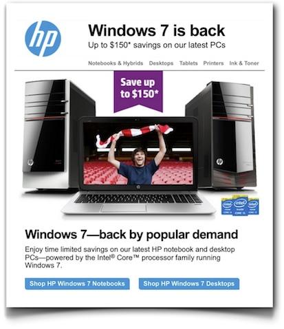 Windows 7 is back - HP