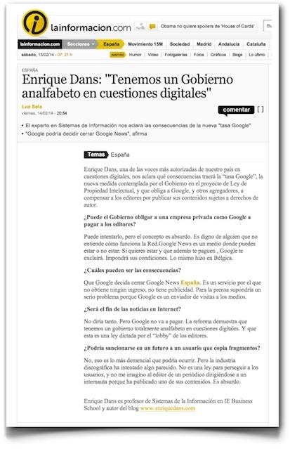 Gobierno analfabeto - LaInformacion