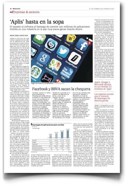 Aplis hasta en la sopa - El País (pdf, haz clic para leer a un tamaño razonable)