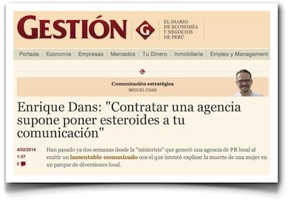 """Enrique Dans: """"Contratar una agencia supone poner esteroides a tu comunicación"""" - Gestión"""