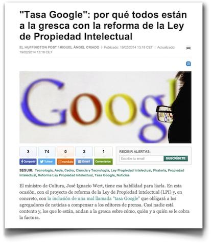 """""""Tasa Google"""": por qué todos están a la gresca con la reforma de la Ley de Propiedad Intelectual - El Huffington Post"""