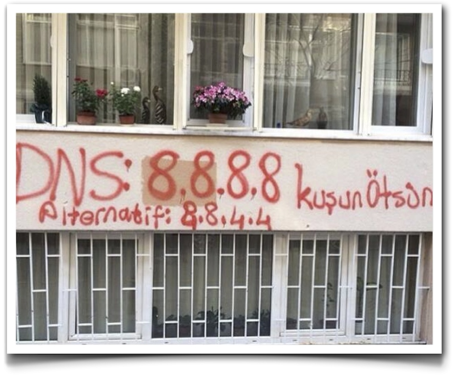 DNS-grafitti-Turkey (Unknown origin, please let me know if anyone is able to trace the source so I can give the proper credit)