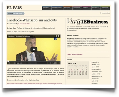 Facebook & WhatsApp: ins and outs - El País