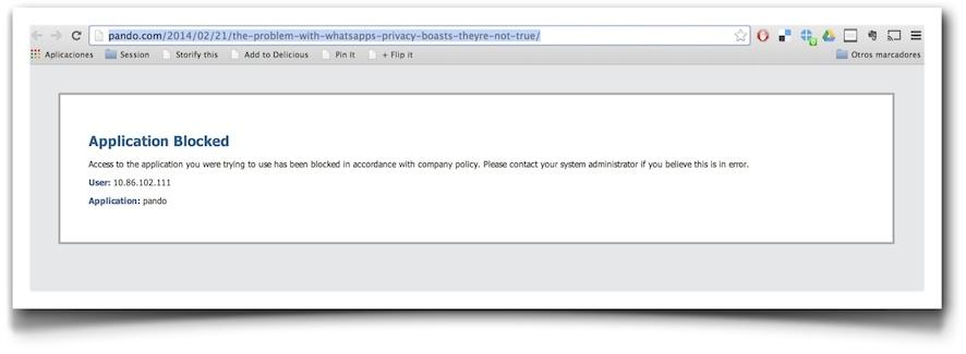 Proxy server block