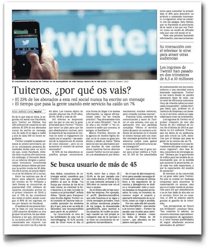 Tuiteros, ¿por qué os vais? - El País (pdf, haz clic para leer entero)