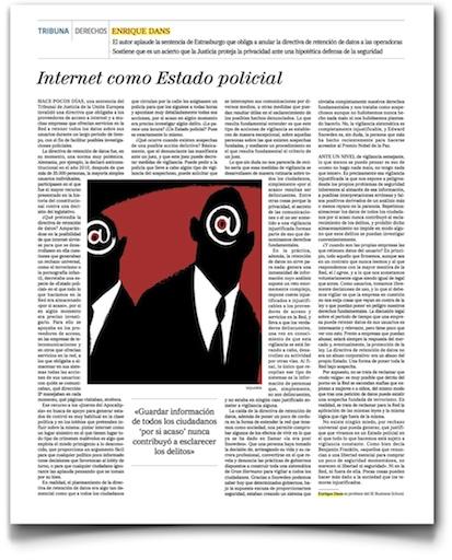 Internet como estado policial - El Mundo (pdf, haz clic si quieres leerla en este formato a tamaño normal)
