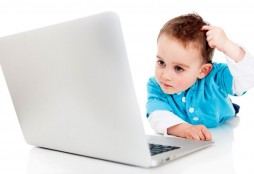 kid and laptop