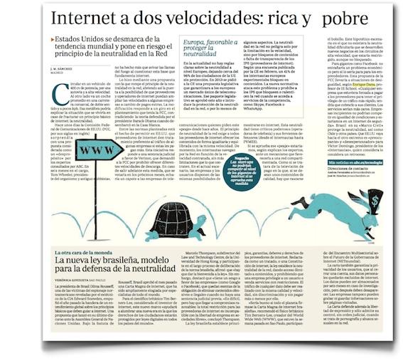 Internet a dos velocidades: rica y pobre - ABC (pdf, haz clic para leer)