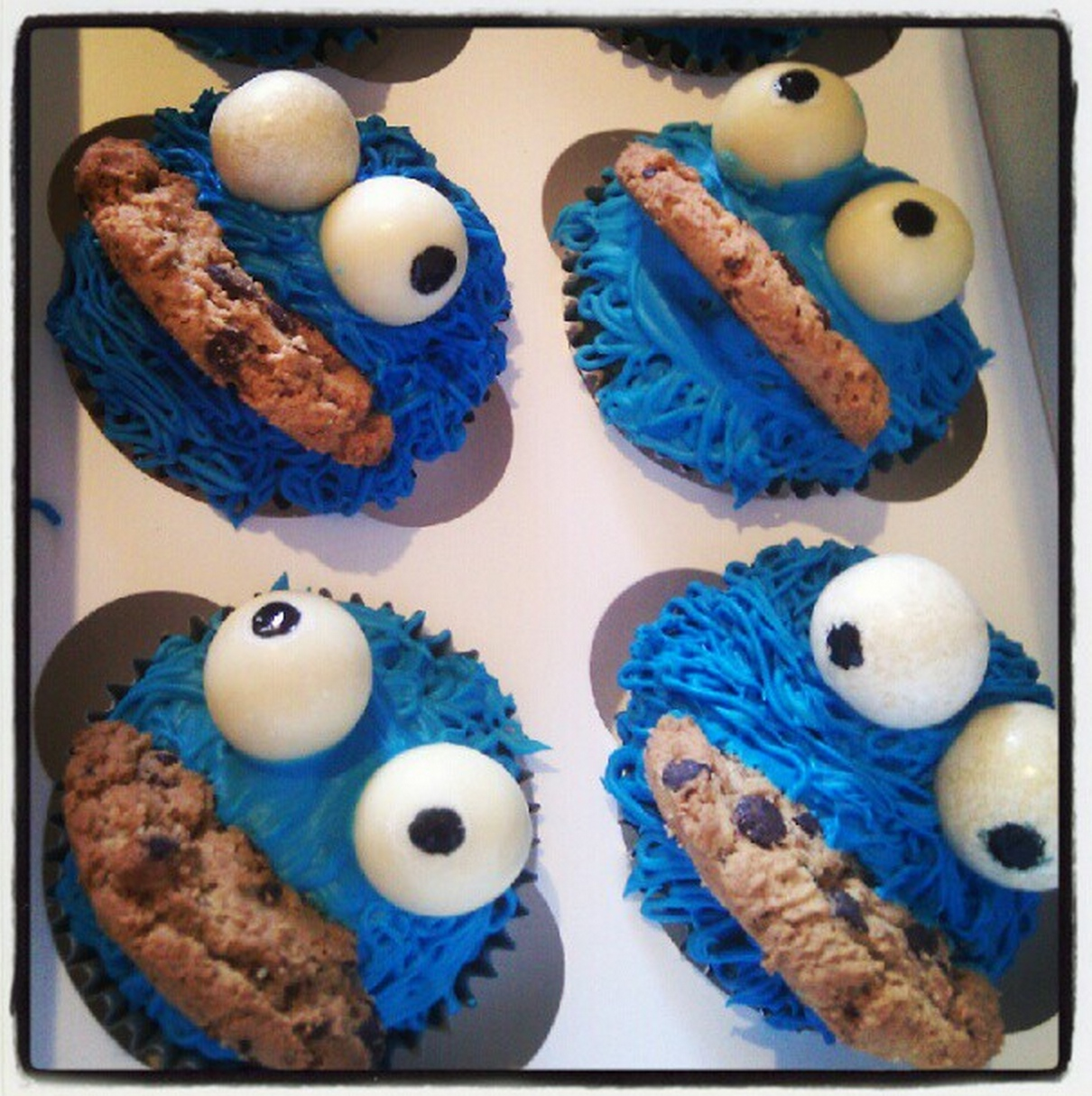 Cookie monster cupcakes (IMAGE: Enrique Dans)