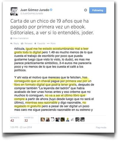 Juan Gómez Jurado (@JuanGomezJurado) status update #481030386722820096 - Twitter