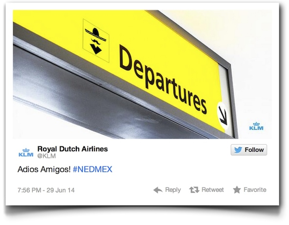 KLM deleted tweet