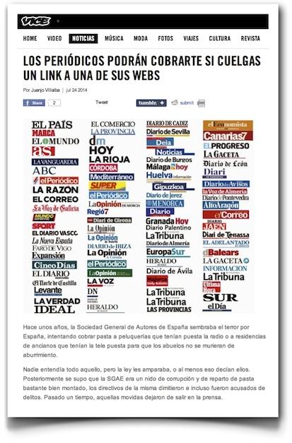 Los periódicos podrán cobrarte si cuelgas un link a una de sus webs - VICE