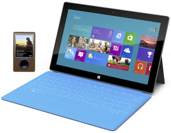 Surface and Zune