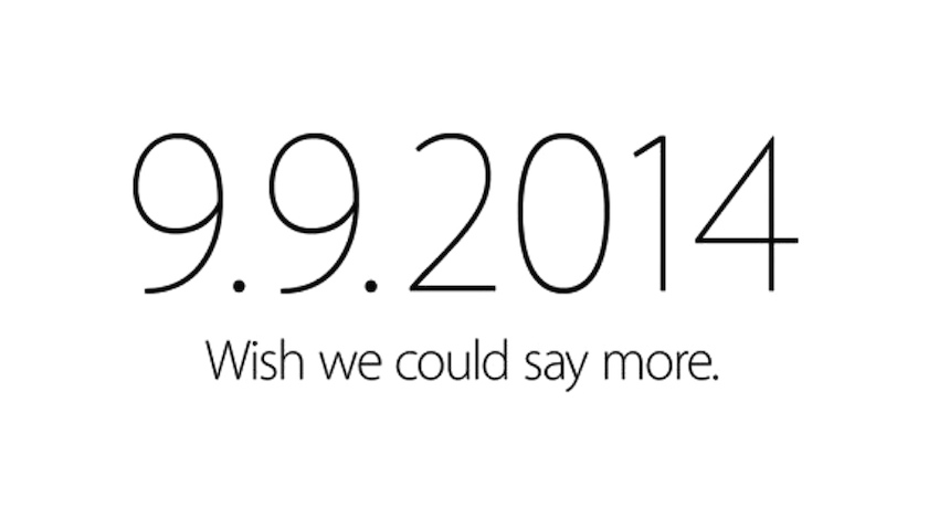 Apple event 9/9/2014 announcement