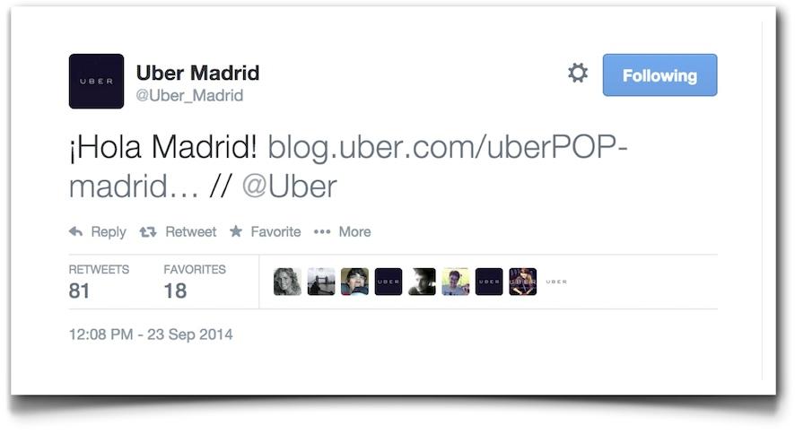 ¡Hola Madrid! - Uber
