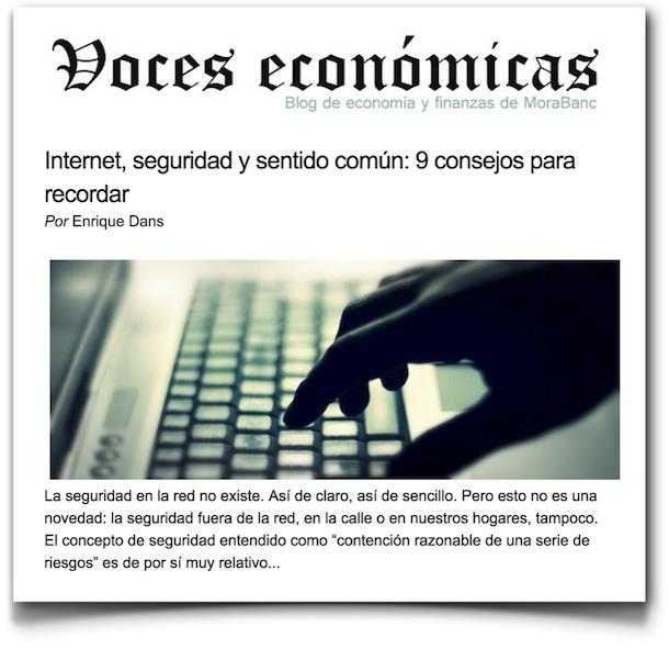 Internet, seguridad y sentido común: 9 consejos para recordar - Voces Económicas
