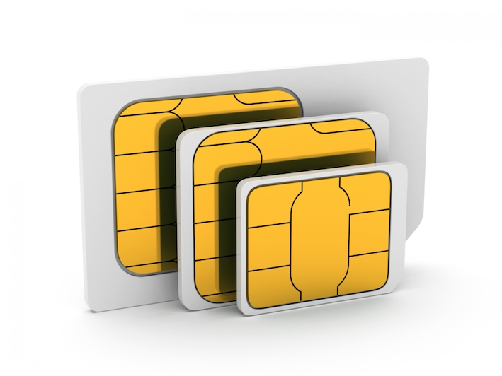 SIM, microSIM and nanoSIM cards