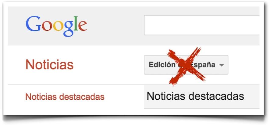 Cierre Google News España