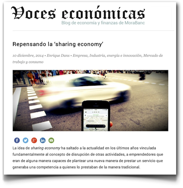 Repensando la 'sharing economy' - Voces Económicas