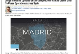 Uber - The Spain Report